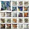 18'' Retro vintage Horse Cotton Linen Sofa Cushion Cover Pillow Cases Home Decor