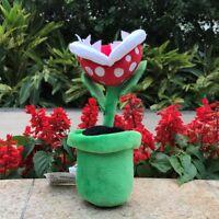 "Super Mario Plush Toy Piranha Plant 8"" Game Collectible Cute Stuffed Animal Doll"