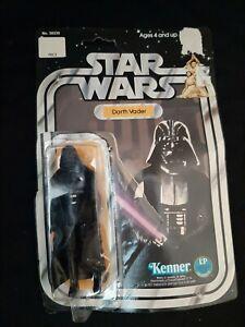 Star Wars Kenner 1977 Darth Vader Figure w/Card & Bubble