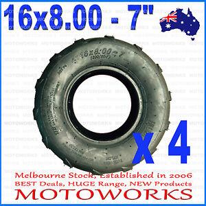 "4 x 16 X 8 - 7"" inch Front Rear Tyre Tire 125cc Quad Drit Bike ATV Buggy Gokart"