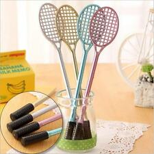 4pcs Badminton Racket Point Pens Korean Stationery Novelty Mickey Gel Rollerball