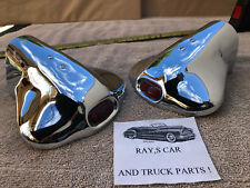 New Vintage Style Exhaust Tips With A Red Jewel ! Car / Thuck (Fits: Truck)
