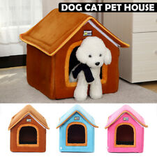Pet Dog Cat Bed Puppy Cushion Igloo House Soft Warm Kenne Mat Blanket