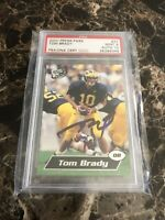 2000 Press Pass Certified Autograph Tom Brady Rookie Card PSA AUTO 10