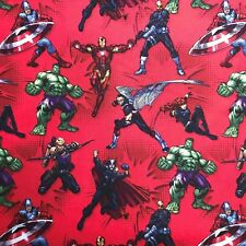Avengers Action Marvel Comics 100% Cotton Quilting Fabric Priced per Yard
