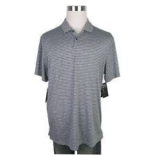 Nike Golf Tiger Woods Dri-fit Vapor Polo Mens Size Large Black Stripe Bq6722 010