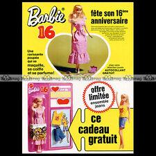 Mattel Vintage BARBIE 'Sweet 16' - 1974 Pub / Publicité / Ad #A153