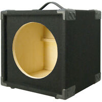 1X12 Bass Guitar compact Empty Speaker Cabinet black carpet finish MiniBG112-BC