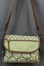 FOSSIL ZB2835 Multi-Color Canvas and Leather Cross Body Messenger Purse