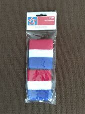 USA WRISTBANDS Sweatbands United States of America RED WHITE BLUE elastic terry