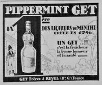 PUBLICITÉ DE PRESSE 1926 PIPPERMINT GET PREMIÈRE LIQUEUR DE MENTHE - à REVEL