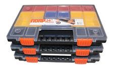 3 x NORP 14 L Sortiments-Kasten,Sortier-Box,Ordnungsbox,Magazin,Box mit Fächern