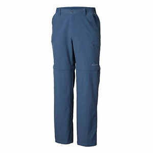 Columbia Mens PFG Blood and Guts III Convertible Pants Blue size Tall 36W 34L
