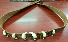 Australian made Crocodile print  leather hat band 6  teeth Dundee exotic cool