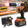 188VF Brushless Electric Cordless Impact Wrench Gun Driver Tool 2 Battery +Case
