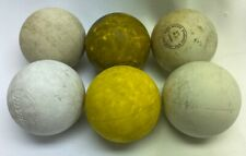 6 Used Practice Lacrosse Balls Mixed Brands