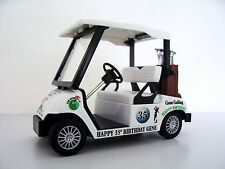 BIRTHDAY,WEDDING,GIFTS DIECAST GOLF CART BUGGY Personalised-Any Special Occasion