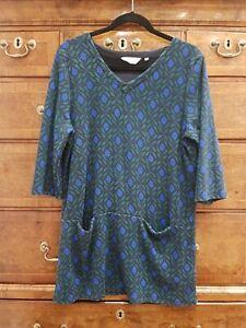 Seasalt Long Run Tunic Dress Top, Size 14, VGC