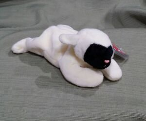 Ty Beanie Baby Chops the Lamb DOB 5-3-96  w/Errors  PVC 1995 MWMT Retired