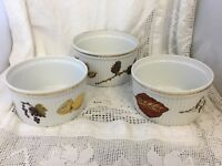 "Royal Worcester EVESHAM Souffle Set / Baking Set Of 3 ( 1 Of 6.75"" Dia, 2 Of 6"")"