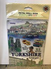 Yorkshire - SMALL - Tin Metal Wall Sign *Top 100*