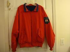 Men's Vintage Nautica Reversible Blue & Red Offshore Racing Patch Jacket Size XL