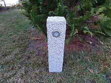 LED Gartenlampe mit Schalter u. Steckdose Wegeleuchte echter Stein 230 V  Granit