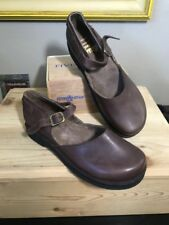 Basics shoe Company Handmade Dark Brown Leather Maryjanes Shoes 10.5 B Mold able