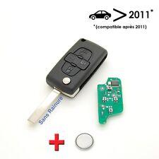 Clé électronique à programmer Peugeot 207 307 308 4 boutons sans rainure