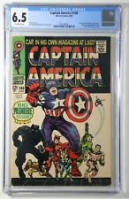 Captain America #100 CGC 6.5 Marvel 1968 Premiere Issue, Black Panther App