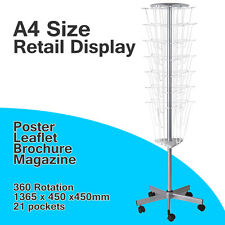 NEW 21 POCKETS A4 SIZE POSTER Magazine BROCHURE RETAIL STAND DISPLAY RACK