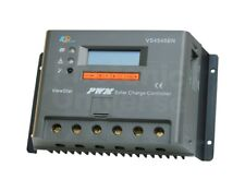 45A solar panel charge controller / regulator with LCD display for camper / boat
