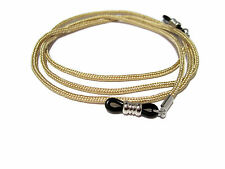 Gold Paracord Eyeglass Holder, Eyeglass Chain, Black Grips Eyeglass Cord 361