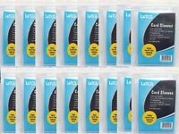 16 Packs LaTCG Clear YuGiOh/Vanguard/Small Gaming Card Deck Protector Sleeves