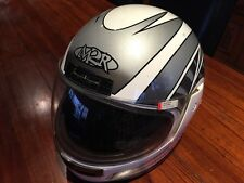 Motor bike helmet Made By M2R Model 720, Size S, White And Grey