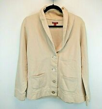 Merona Women's X-Large Shawl Collar Cardigan Sweatshirt Beige w/Pockets