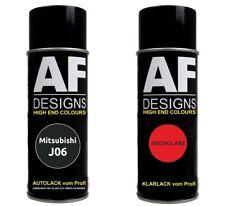 Autolack Spraydose Set  Mitsubishi J06 Burma Black Perl Metallic Basislack Klarl