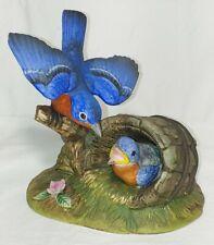 "New ListingVtg. 1988 Andrea by Sadek Porcelain Figurine Sculpture, ""Bluebird Family"" #8177"