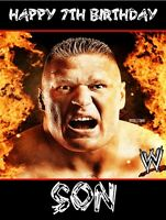 WWE WRESTLING BROCK LESNER PERSONALISED Birthday Card Large A5