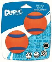 New 2-Pack Chuckit Ultra Dog Ball Bounces and Floats Bright Orange Blue Medium