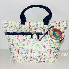NEW LeSportsac Carlin Top Zip Tote W Coin Pouch Paradise Colada B075 X116