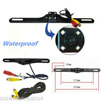 Car Rear View Reverse Backup Parking License Plate Camera 170° Night Vision CMOS
