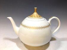 Lorenz Hutschenreuther Porcelain Tea Pot Poesie Pattern White/Gold Trim Germany