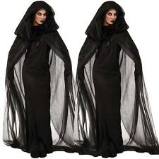 Women Witch Halloween Costume Cospaly Fancy Dress Party Outfits Cape Gloves Gift