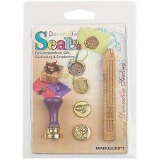 Manuscript Pen Decorative Sealing Set With Gold Wax - 270231