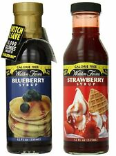 Walden Farms Blueberry and Strawberry Syrup, 12oz - 2 Pack