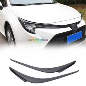 For Toyota Corolla 2020 2021 Black Front Headlight Eyebrows Eyelids Cover Trim