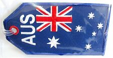 13099 AUSTRALIA FLAG AIRLINES AIRWAYS AVIATION TRAVEL FABRIC LUGGAGE BAG TAG
