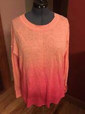 Vertical Design NEW Orange Women's 1X Linen Sweater