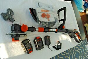 """WORX WG170 GT Revolution 20V 12"""" Grass Trimmer 2 batteries and Charger  New  WOB"""